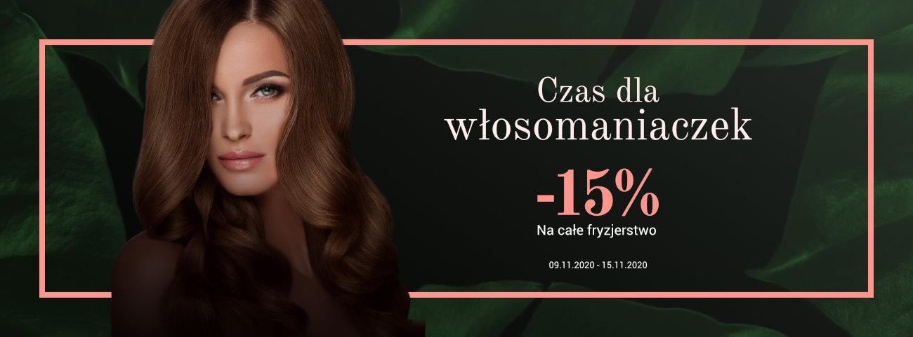 Całe fryzjerstwo -15%